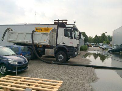 Pumparbeiten/Überschwemmung